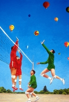 1994-volley-balloon-cm-35x25-olio-su-tela